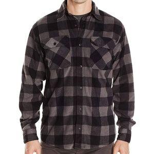 Wrangler Authentics Long Sleeve Plaid Fleece Shirt